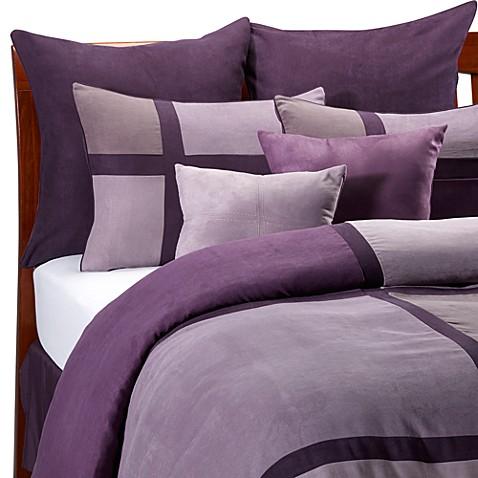 Hudson street aubergine duvet cover set bed bath beyond - Bedlinnen aubergine ...