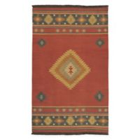 Surya Jewel Tone 9' x 13' Handcrafted Area Rug in Dark Red
