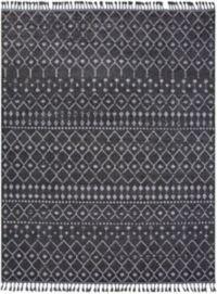 Surya Restoration Bohemian Loomed 9'3 x 12'1 Area Rug in Black