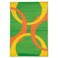 Linon Home Corfu 1'10 x 2'10 Accent Rug In Lime/Orange