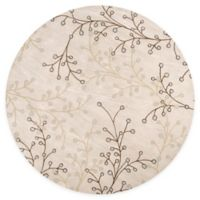 Surya Athena Floral Hand-Tufted 6' Round Area Rug in Natural/Brown