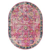 Surya Harput 6'7 x 9' Area Rug in Red/Blue
