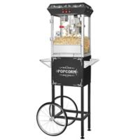 Superior Popcorn Company Popper Machine with Cart in Black