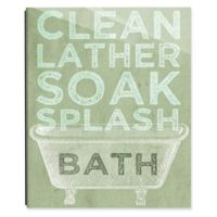 Astra Art Clean Lather Green 11-Inch x 14-Inch Acrylic Wall Art