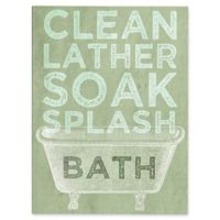 Astra Art Clean Lather Green 16-Inch x 20-Inch Canvas Wall Art