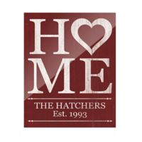Astra Art Heart Home 11-Inch x 14-Inch Acrylic Wall Art in Red