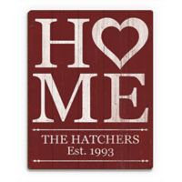 Astra Art Heart Home 11-Inch x 14-Inch Wood Wall Art in Red