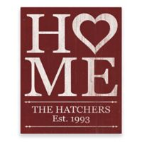 Astra Art Heart Home 11-Inch x 14-Inch Metal Wall Art in Red