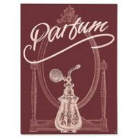 "Astra Art ""Parfum"" 16-Inch x 20-Inch Canvas Wall Art in Red"