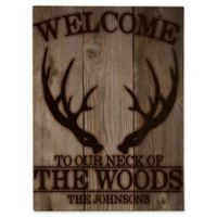 Astra Art Neck of the Woods 11-Inch x 14-Inch Metal Wall Art