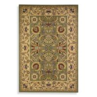 KAS Cambridge Kashan 3'3 x 4'11 Area Rug in Green