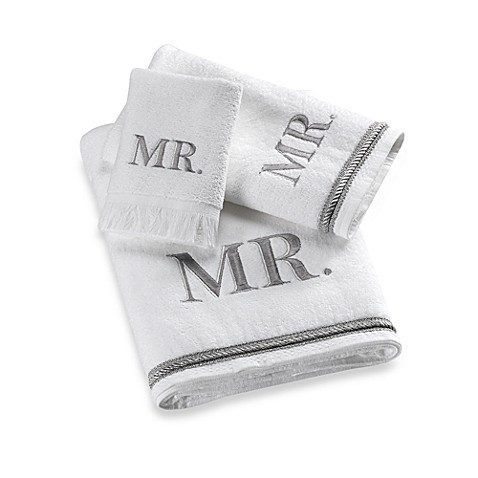 Avanti Silver Block Monogram Quot Mr Quot Bath Towel Bed Bath