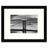 Amanti Art Benjamin Franklin Bridge 11-Inch x 9-Inch Framed Wall Art