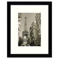 Amanti Art Eiffel Tower Street View 9-Inch x 11-Inch Framed Wall Art