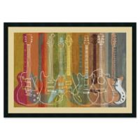 Amanti Art Guitar Heritage 42-Inch x 30-Inch Framed Wall Art