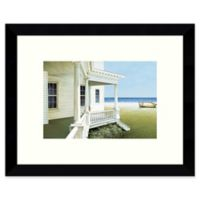 Amanti Art Deserted Coastal Cottage 11-Inch x 9-Inch Framed Wall Art