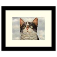 Amanti Art Hugo Hege Cat and Butterfly 11-Inch x 9-Inch Framed Wall Art