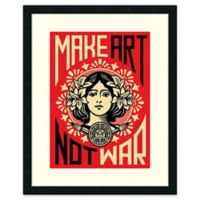 """Amanti Art """"Make Art Not War"""" 24-Inch x 30-Inch Framed Wall Art"""