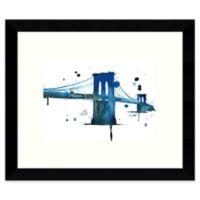 Amanti Art Brooklyn Blues 11-Inch x 9-Inch Framed Wall Art