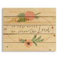 "Designs Direct ""In This House We Serve the Lord"" 18-Inch x 22-Inch Pallet Wood Wall Art"