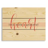 "Designs Direct ""Live with a Grateful Heart"" 10.5-Inch x 14-Inch Pallet Wood Wall Art"