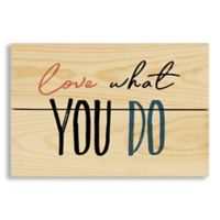 """Designs Direct """"Love What You Do"""" 7-Inch x 10.5-Inch Pallet Wood Wall Art"""