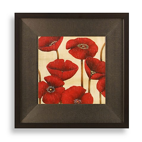 poppy wall art in red - bed bath & beyond