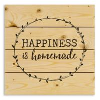 """Designs Direct """"Happiness is Homemade"""" 14.25-Inch Square Pallet Wood Wall Art"""