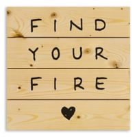 """Designs Direct """"Find Your Fire"""" 14-Inch Square Pallet Wood Wall Art"""