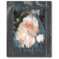 """Courtside Market """"Merry Christmas"""" 20-Inch x 16-Inch Canvas Wall Art"""