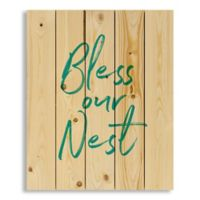 Designs Direct Bless Our Nest 18-Inch x 22-Inch Pallet Wood Art