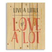Designs Direct Live a Little, Love a Lot 18-Inch x 22-Inch Square Pallet Wood Wall Art