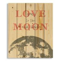 Designs Direct Love You to the Moon and Back 18-Inch x 22-Inch Pallet Wood Wall Art
