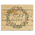"Designs Direct ""Love Is Patient"" Wreath Wall Art"