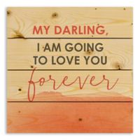 Designs Direct My Darling Love Forever 14.25-Inch Square Pallet Wood Wall Art