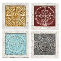 Stratton Home Décor Accent Tile 12-Inch Square Wall Art (Set of 4)