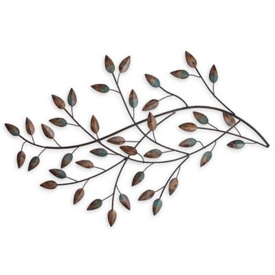 Captivating Stratton Home Décor Blowing Leaves Wall Art