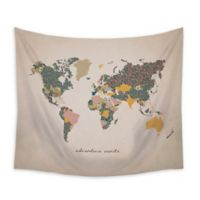 """Stratton Home Decor """"Adventure Awaits"""" 50-Inch x 58-Inch Wall Tapestry"""