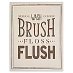 "Stratton Home Decor ""Wash Brush Floss Flush"" 14-Inch x 18-Inch Wall Art"