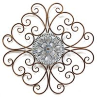 Stratton Home Decor Scroll Medallion Wall Sculpture