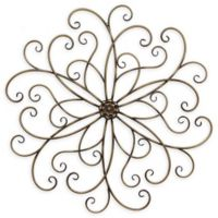 Stratton Home Décor Classic Medallion 30.5-Inch Square Wall Art in Bronze