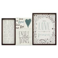 Stratton Home Décor Love is Forever Wall Art (Set of 5)