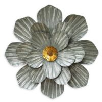 Stratton Home Décor Flower Wall Décor in Galvanized- Gold