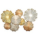 Stratton Home Decor Metallic Circles Wall Sculpture in Gold