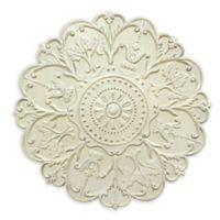 Stratton Home Decor Shabby Medallion Wall Art in White