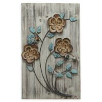 Stratton Home Décor Rustic Floral Panel