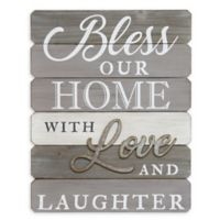 Stratton Home Décor Bless Our Home Wall Art in Grey