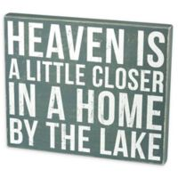 """Primitives by Kathy """"Heaven Home Lake"""" Box Sign in Blue"""