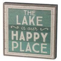 """Primitives by Kathy """"Lake Happy Place"""" Box Sign in Green"""