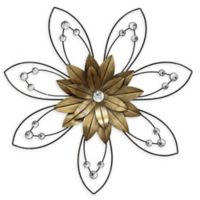 Stratton Home Décor Enchanting Flower II 20-Inch Circular Wall Art